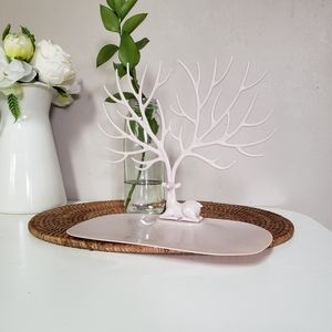 Jewelry holder deer tree removable jewelry holder tray.